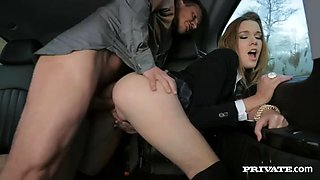 stunning college girl alexis crystal fucks a man in his luxurious car