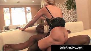 Mega Milf Julia Ann Does Interracial Monster Facial & Anal!