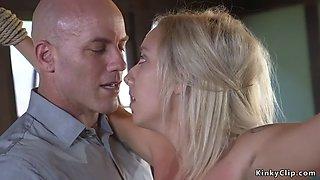 Boss anal bangs pierced pussy blonde