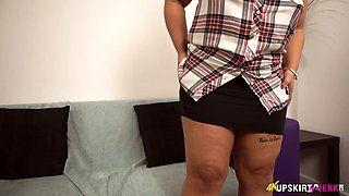 Check out upskirt show performed by all natural horny MILF Ashley Rider
