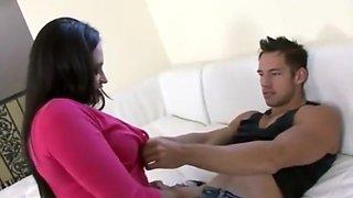 Hot housewife Claudia Valentine seduces the designer