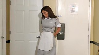 ENF Maid made to Strip and hide in closet