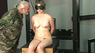 Young chick Adora is punished by old dude