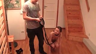 Teen slave gets punished by her sadistic boyfriend