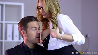 office hoe stacey saran fucks handsome guy on job interview