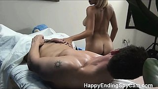 Tessa is caught on our hidden spy cam fucking her massage