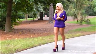 Smoking and strutting in 8 inch heels