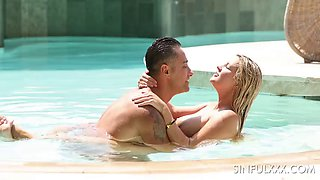 Sienna day having a nice time by the pool with a bigdicked stud