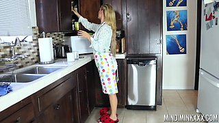 Cherie DeVille going bananas with a stunning brunette lesbian