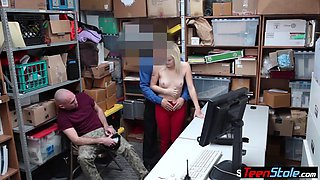 Teen thief punish fucked next to her bf by a lp officer