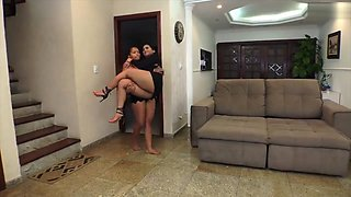 Ass rimming and lift and carry brazilian lesbians