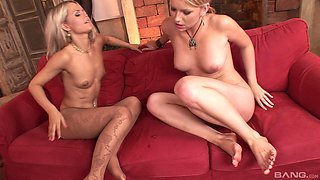 Nikki Sand and her naughty friend want to share a delicious boner