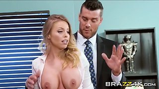 a horny boss fuck busty britney amber's wet pussy and tight ass at the office