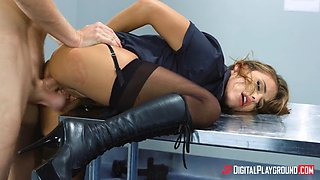 adriana chechik in sexy boots and stockings getting assfucked