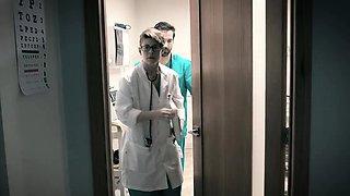 Creepy doctor fucks his half awake patient Arya Fae