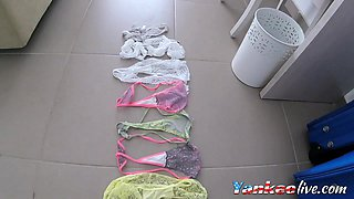 Step Daughters Used Holiday Panties
