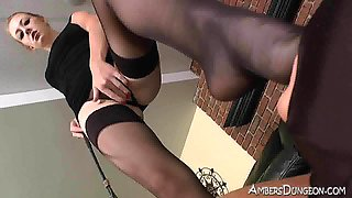 Mistress Riley femdom strapon and foot domination