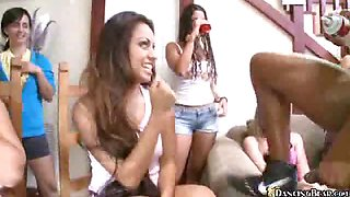 Sexy girls party turns wild when stripper with big black
