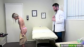 Doctor romps Veinna Rose ass with his rod like a spreadeagle