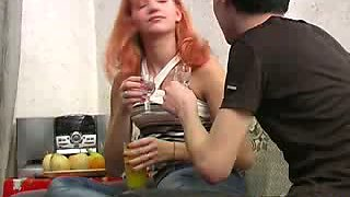 She's drunk and she wants his cock