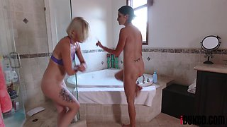 Natasha Blue and Silvia Saige in Bath Time For Two Hotties