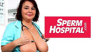 Chesty uniform cougar Danielle old young cfnm at hospital