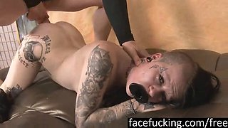 Rough ass fuck, gaping and enema for Mallory Maneater