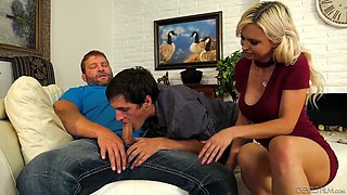 Wondrous MILF Astrid Star takes part in such a horny bisexual threesome
