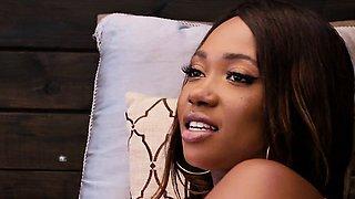 Ebony Chick Skyler Nicole Gets Her Hot Body Oiled Up