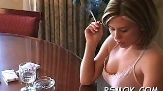 smoking and having some fun clip