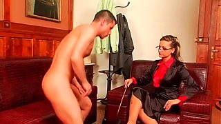 hot babe dominates her slave clip