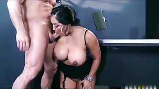 Bigtit lingerie clad assistant Kiara Mia fucks her boss at work