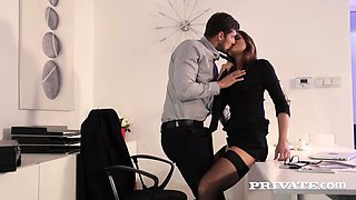 Private.com - Secretary Barbara Bieber Fucks Her Boss in the Office