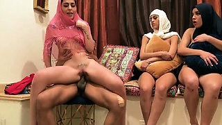 American group sex party Hot arab nymphs try foursome