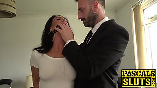 brunette milf ella bella gets rough anal sex from pascal