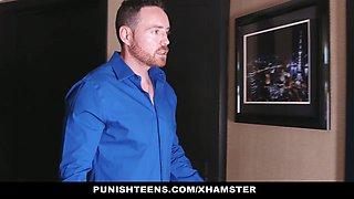 PunishTeens - Caught Masturbating & Punished By Her Daddy