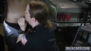 Slutty cop ladies sharing a BBC with so much passion