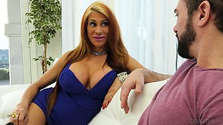Super hot busty cougar Sheila Marie seduces friend of her son