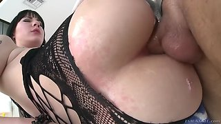 closeup of charlotte sartre getting ruthlessly fucked in her ass and mouth