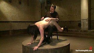 dolly meats Day 2Interrogation, OTK,  an Intense Suspension - TheTrainingofO