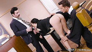 Smoking hot and horny Kristina Rose fucked in the office