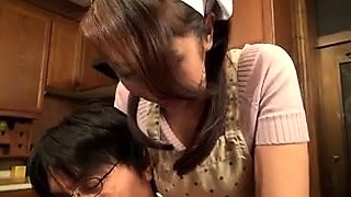 Stacked Asian housewife seduces a guy to satisfy her needs