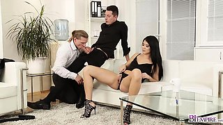 Lady Dee and Black help stressed out Nick Gill relax