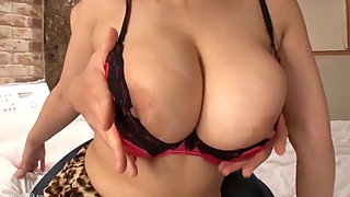 Super thick asian chick bbw getting sexed in leopard outfit