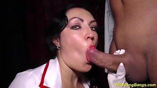 busty milf nurse wild banged