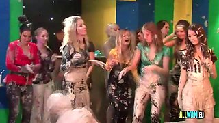 Hot Euro sluts love mud wrestling