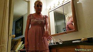Blonde Ms Paris Rose is Pissed
