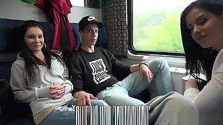 Foursome Sex in Public TRAIN (Full Video)