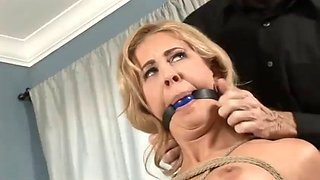 orgasmic interrogation of tied babe