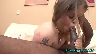black dick for a hot midget chick